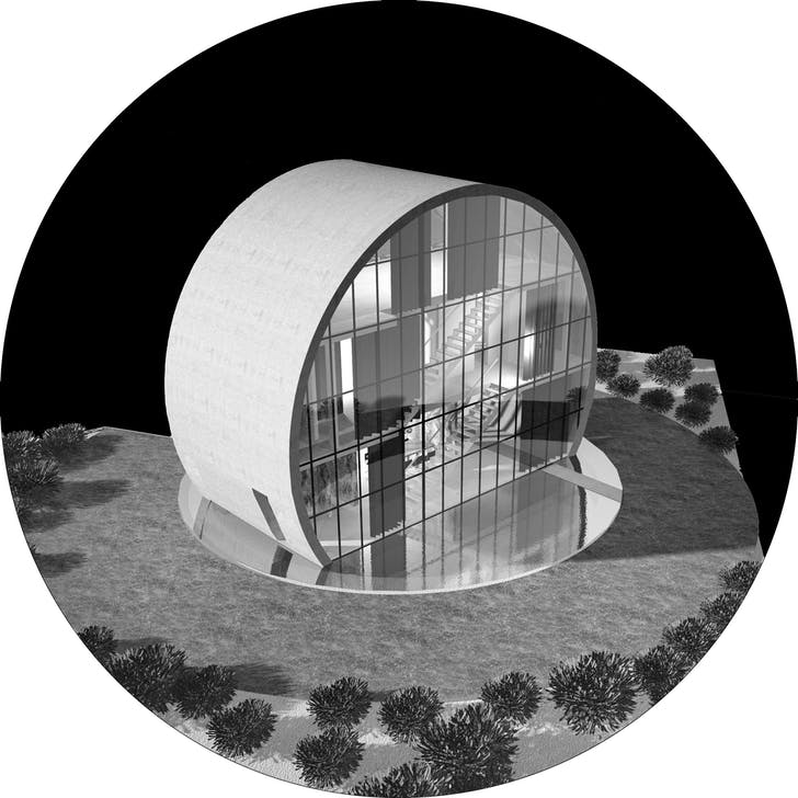 Axonometric of 'Eclipse,' the owner's choice. Image: A2.0 Studio di Architettura