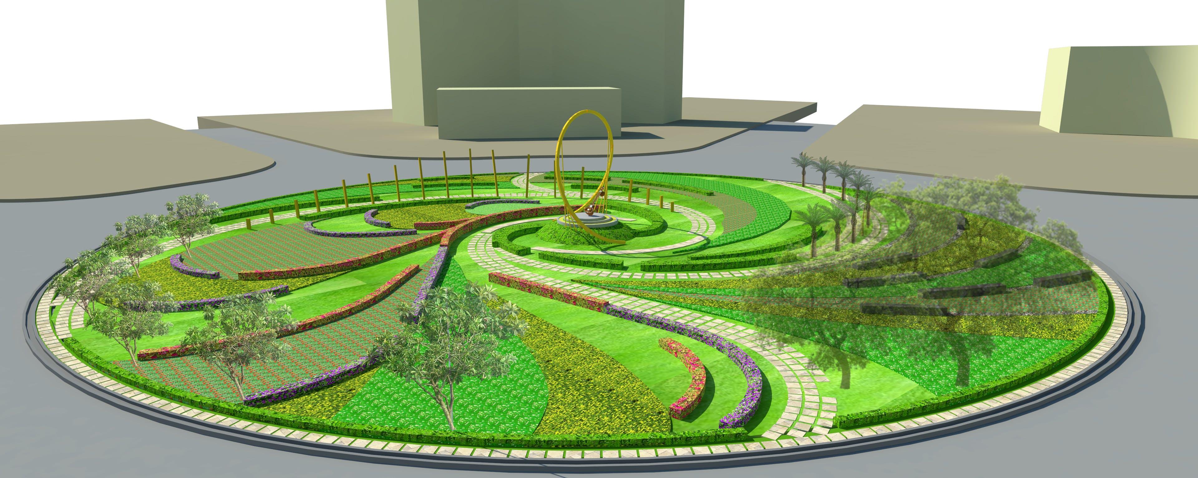 mandi house roundabout jayesh khaire landscapes