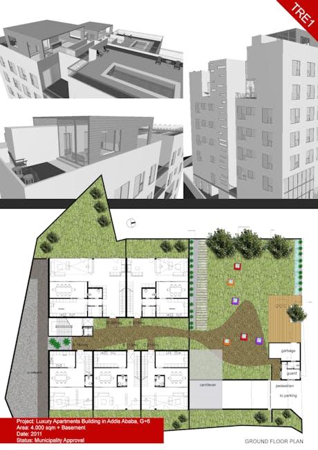 Luxury apartments Building G+7, Addis Ababa, Ethiopia