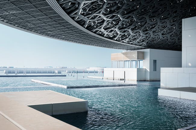 View overlooking the sea © Louvre Abu Dhabi, Photography: Mohamed Somji