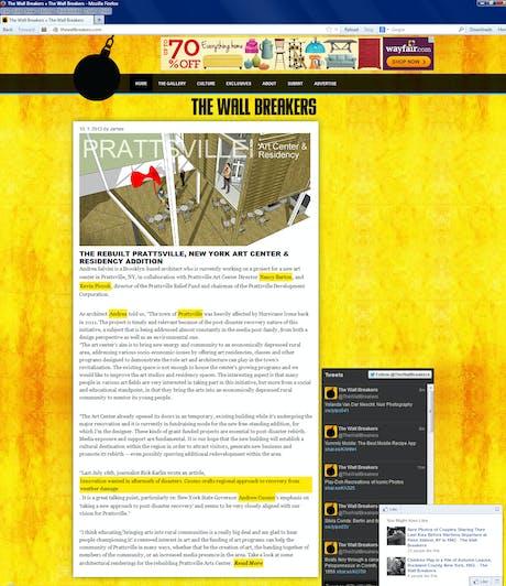 The Rebuilt Prattsville, New York Art Center & Residency Addition - See more at: http://thewallbreakers.com/the-rebuilt-prattsville-new-york-art-center-residency-addition/
