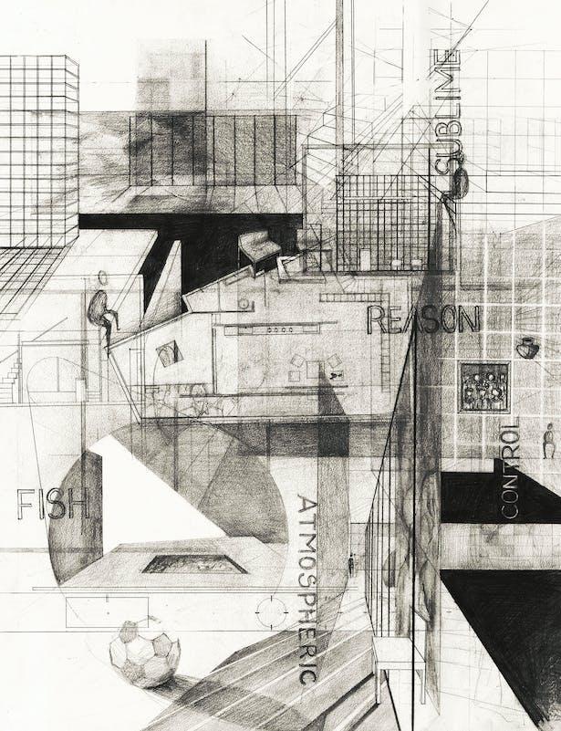 Concept Collage (graphite on paper)