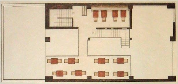 Floor plan, mezzanine level