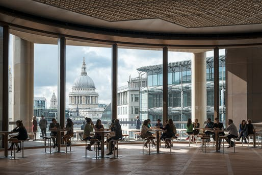 Double-height Pantry overlooking St. Paul's Cathedral. lPhoto: James Newton.
