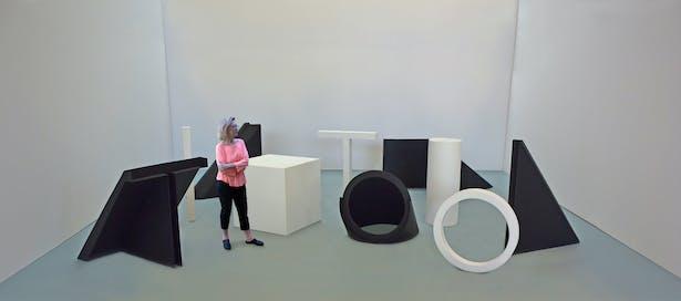A gallery installation