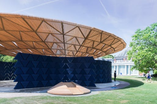 "Francis Kéré, Serpentine Pavilion, 2017, London. Photo: Iwan Baan. From the 2017 organizational grant to Serpentine Galleries for ""Serpentine Pavilion 2017 by Francis Kéré""."