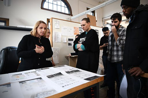 "Catalina Freixas leading the ""Segregation by Design"" studio. (Photo: James Byard/Washington University)"