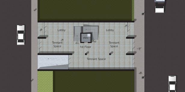 Option A - First Floor Plan (Street Level)