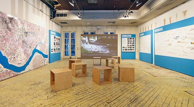 Van Alen Institute's pop-up ground floor exhibition space. Photo: Cameron Blaylock
