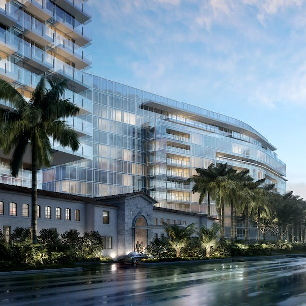 View of The Surf Club from Collins Avenue - Richard Meier & Partners