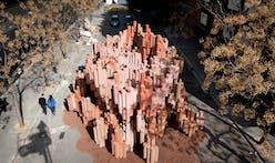 Corrugated Cardboard Pavilion by Miguel Arraiz García / David Moreno Terrón