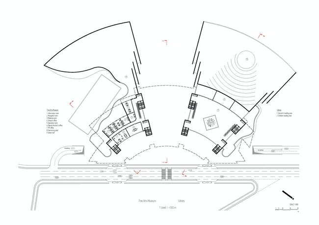 Plan, level 1 (Image: Architecton)
