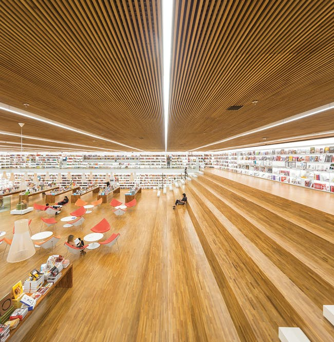 Shortlisted for Commercial Building of the Year: studio mk27 for cultura bookstore in Sao Paulo, Brazil. Photo courtesy of LEAF Awards.