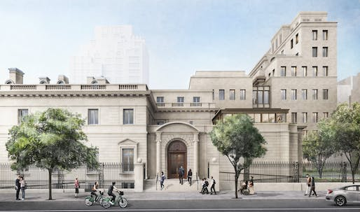 Rendering of The Frick Collection from 70th Street; Courtesy of Selldorf Architects.