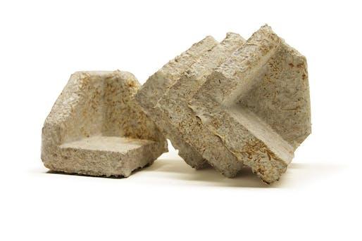 Examples of Ecovative's engineered 'mushroom material'.