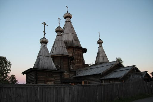 18th century Cathedral of the Dormition in Kem—a log structure recommended for World Heritage listing.