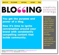Website for Blogging Workshops