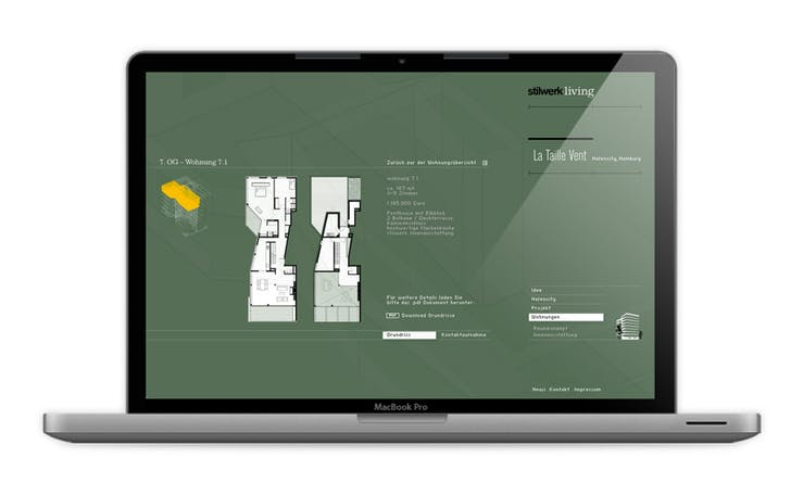 Stillwerk living, Website custom-made luxury apartments in Hamburg
