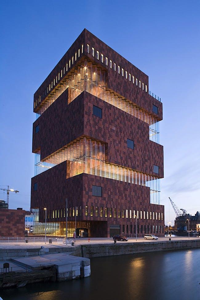 MAS - Museum aan de Stroom in Antwerp, Belgium by Neutelings Riedijk Architects; Photo: Sarah Blee © Neutelings Riedijk Architects