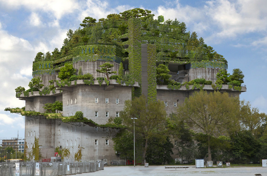 Top Design Firms In The World Wwii German Bunker Adds Quot Green Mountain Quot On Top In Radical