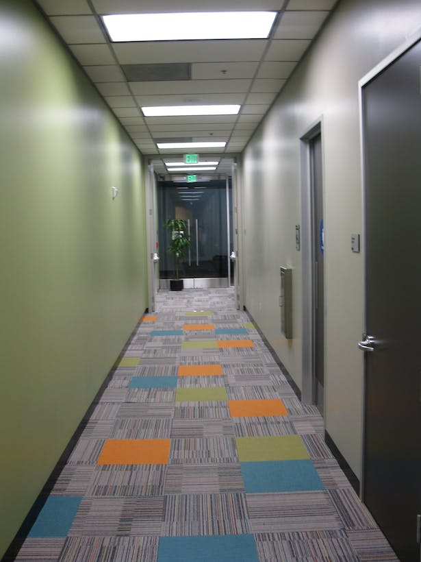Hallway leading to Fitness Center.