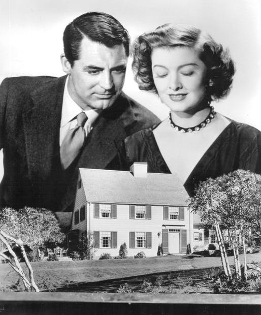 "Promotional shot from ""Mr. Blandings Builds His Dream House"" (1948), via Wikipedia."