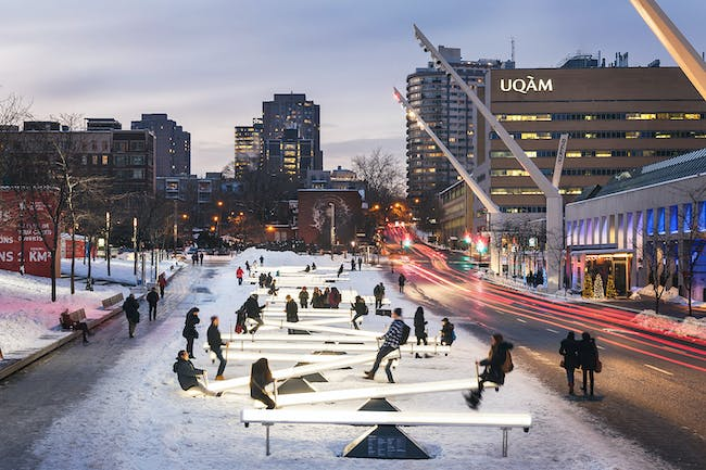 Best Temporary Architecture - Lateral Office and CS Design: Impulse, Montreal, Canada. Photo credit: Azure