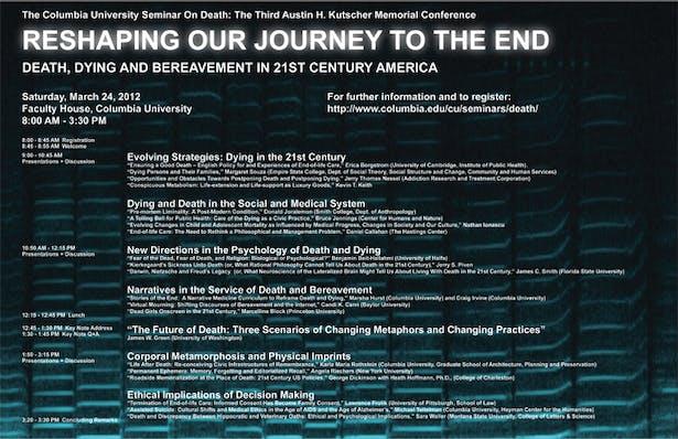 DeathLab - Columbia University Seminar on Death, 2012