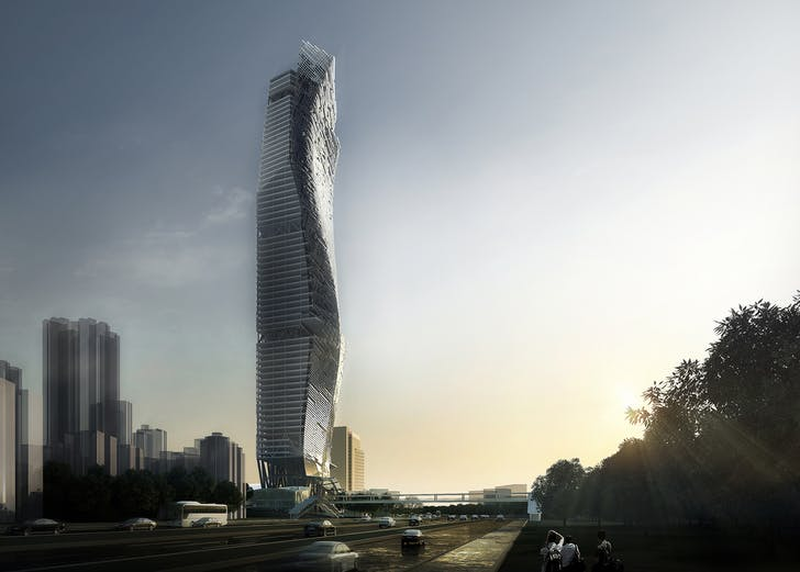 Rendering of the OCT Tower. Image by Studio Link-Arc, LLC