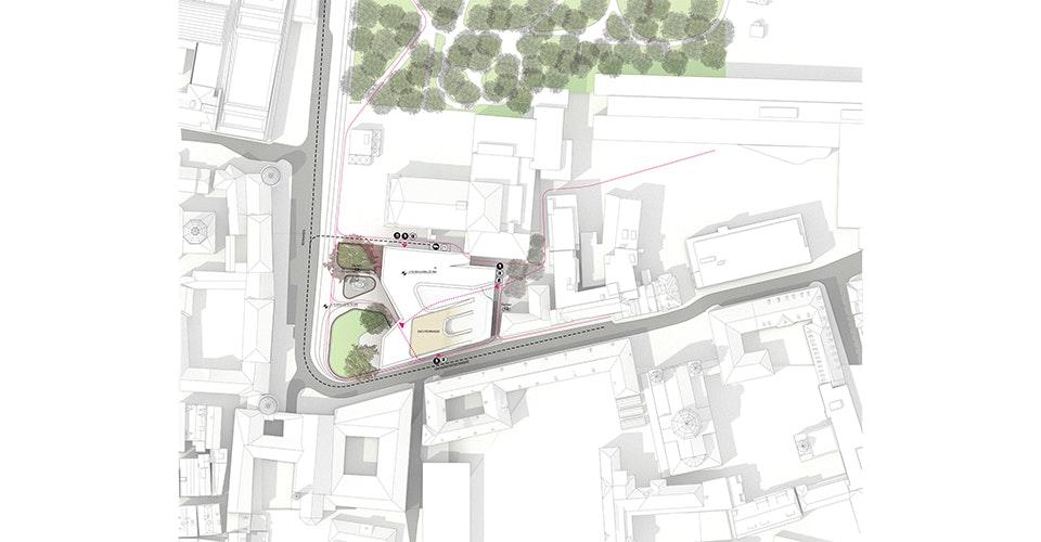 Haus Der Musik In Innsbruck. Site Plan.