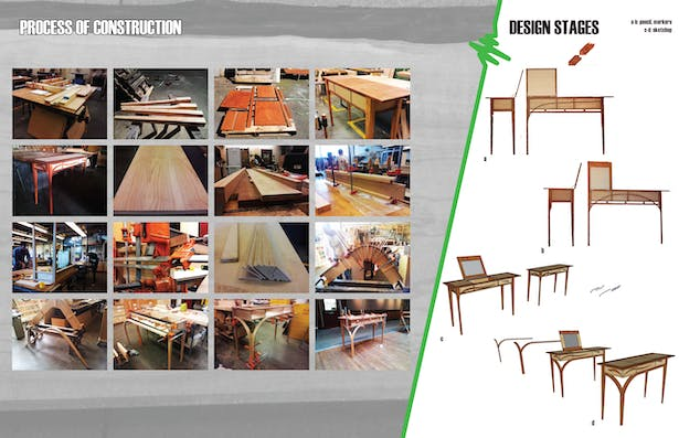 process photos and various stages of design
