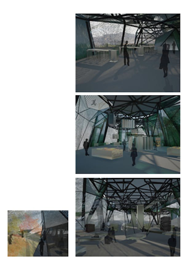 final views of the process_ from the studies to light and materials