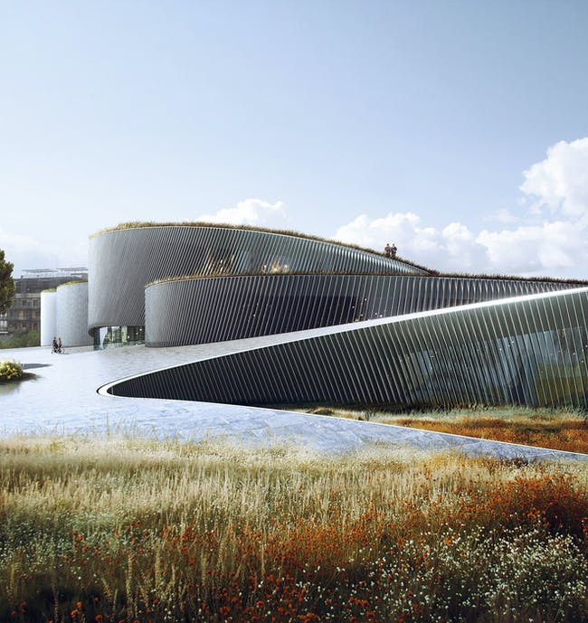 Team BIG's winning design for the Museum of the Human Body in Montpellier, France. Image: BIG + MIR