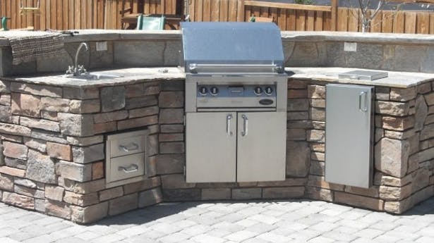 Designed and built this BBQ. It was designed for a homeshow and built to be moved to my residence afterward