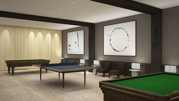 Game room - Rendering by Matthias Kisch