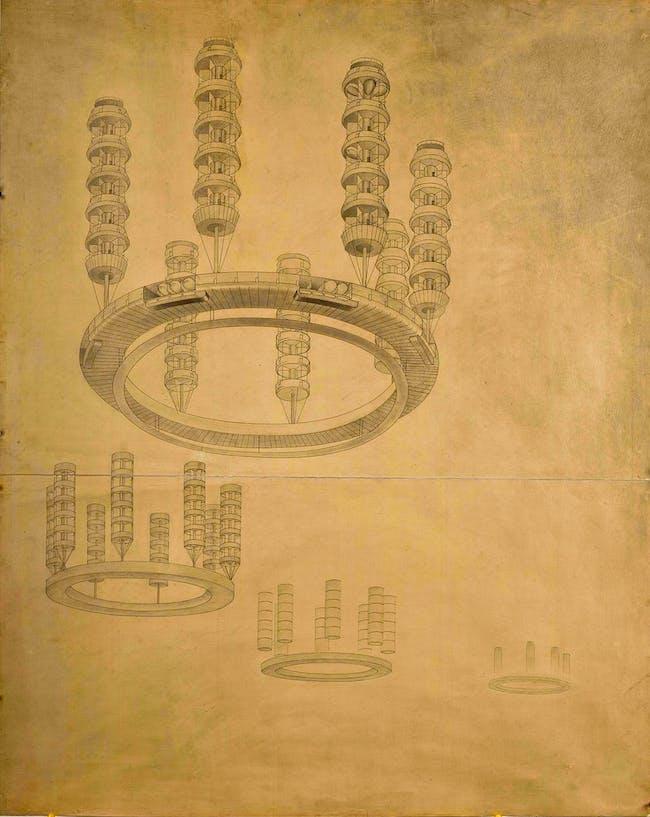 Georgy Krutikov's 'Flying City'