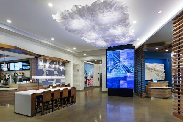 Lobby of Marriott