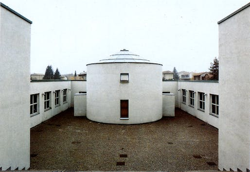 Aldo Rossi, Elementary sChool, 1976: an example of the Italian Neorationalist works that Evan Sale's research will look at.