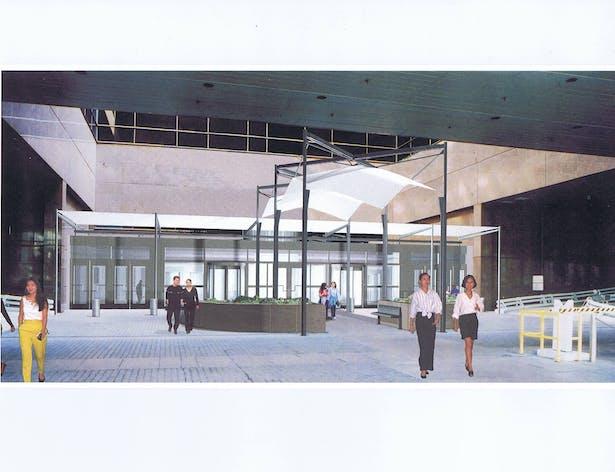 View of 7th Street Entry Vestibule