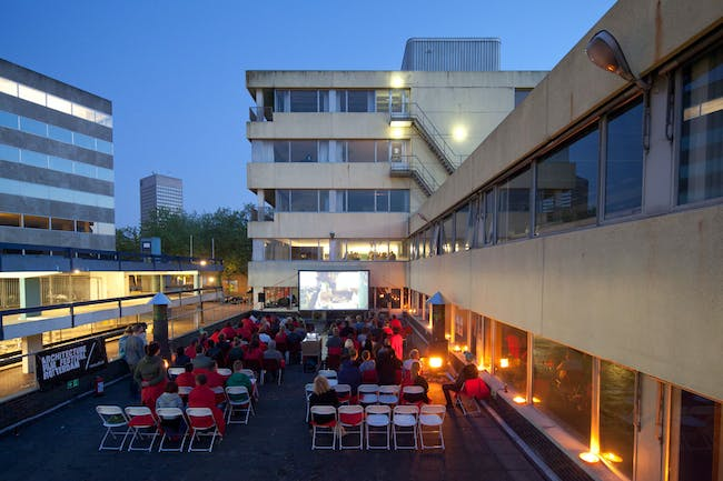 AFFR x Route du Nord rooftop screening this past June. Photo by Frank Hanswijk. Photo via affr.nl.