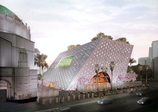 Audrey Irmas Pavilion. Image © OMA.