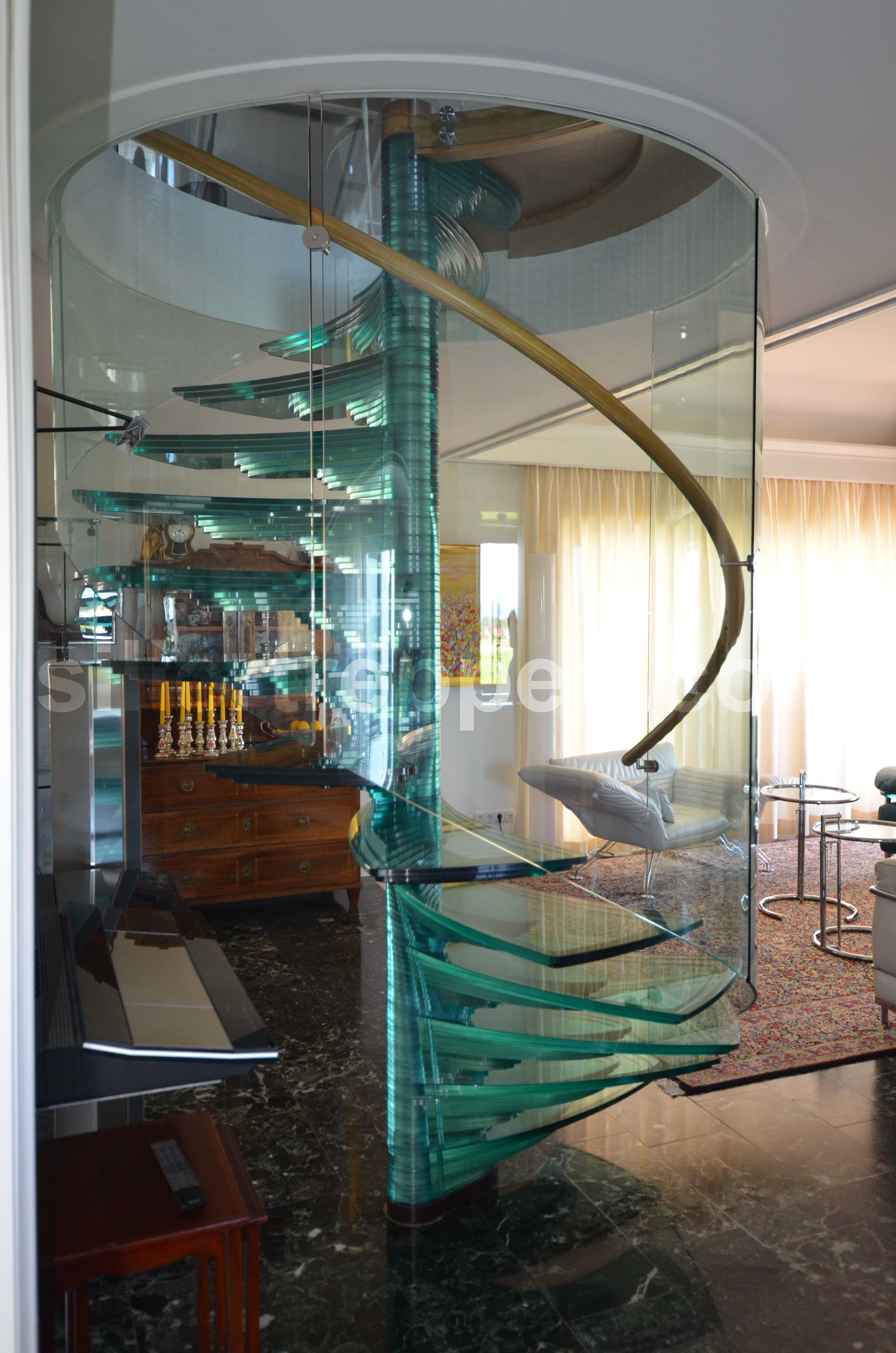 Spiral All Glass Staircase