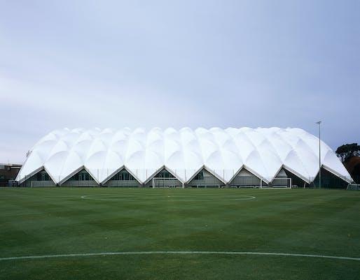 Oriam, Scotland's Sports Performance Centre. Structural Designer: Engenuiti and J&D Pierce. Architect: Reiach and Hall Architects. Photo © Ioana Marinescu.