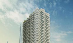 Steinberg Architects proposes wavy white 40-story residential tower for historic Downtown L.A.