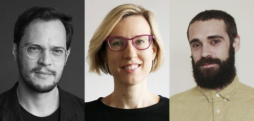 The 2020 Wheelwright Prize finalists (L to R): Gustavo Utrabo, Bryony Roberts, Daniel Fernández Pascual. Photos courtesy of Harvard GSD.