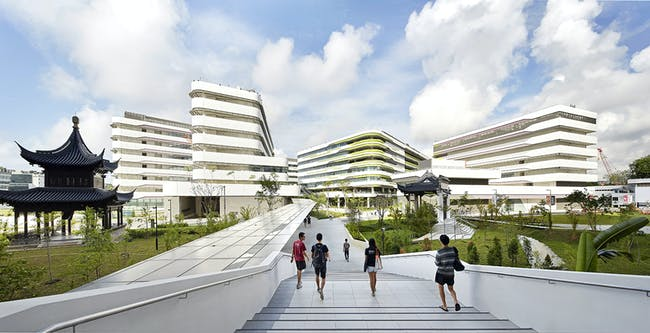 First phase of UNStudio-designed SUTD campus in Singapore is completed. Photo © Hufton+Crow.