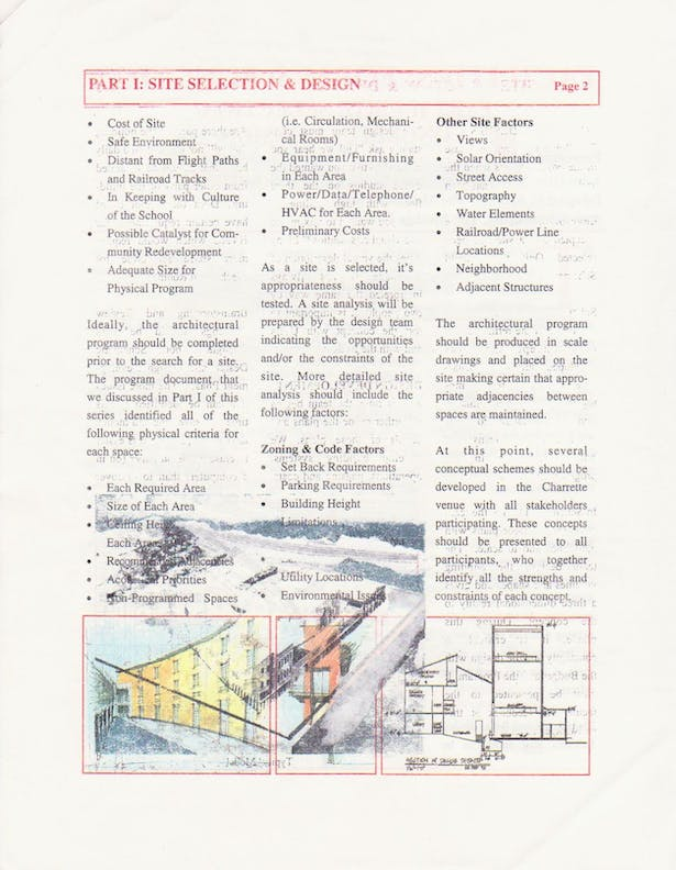 Site Selection Seminar Page 2