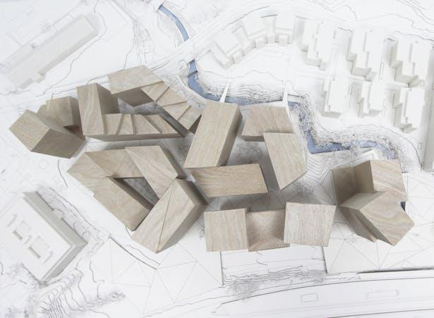 Model_Hoffsveien Skoeyen Oslo Masterplan_schmidt hammer lassen architects