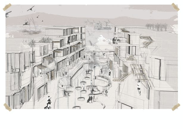 Instead of being a long strip with blocks of mass on each side, the facades were altered to bring variation but not at the cost of losing coherence of the buildings belonging as a whole to the boulevard.