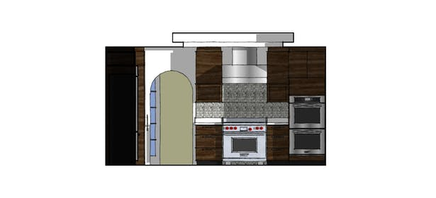 Proposed Kitchen South Elevation